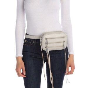 Rebecca Minkoff Oat Leather 3 Zip Belt Bag